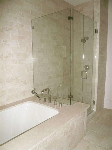 shower bathtub shower combo crema marfil tile bathroom