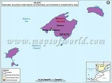 Islas Baleares Map, Spain