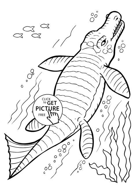 dinosaur undersea coloring pages  kids printable  coloing kidscom