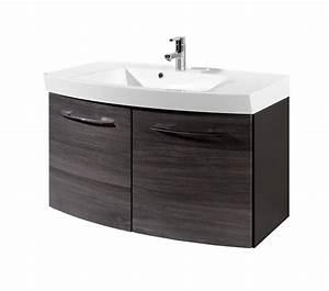 Waschtisch 100 Cm Breit : bad waschtisch florida 2 t ren 100 cm breit eiche rauchsilber bad waschtische ~ Indierocktalk.com Haus und Dekorationen