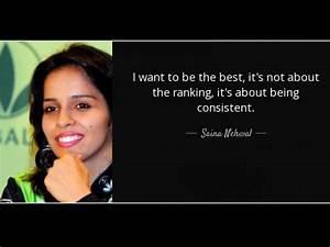International S... Saina Nehwal Quotes