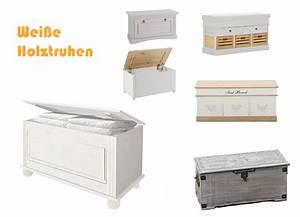 Weiße Kürbisse Kaufen : wei e holztruhe g nstig kaufen ~ Markanthonyermac.com Haus und Dekorationen