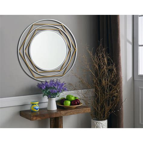 Silver Wall Mirrors Decorative - kenroy home silas gold and silver decorative wall