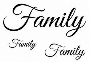 Family-Script Tattoos | Tatt Me Temporary Tattoos