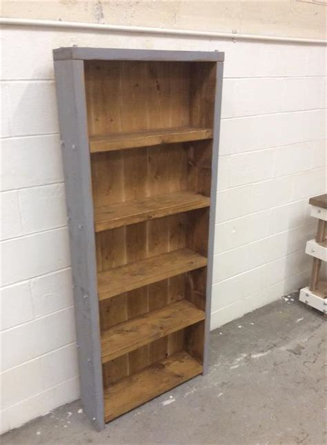 pallet bookshelf plans diy pallet bookcase pallet furniture plans