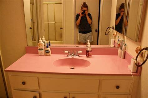 The Pink Bathroom Sink-run Eat Repeat