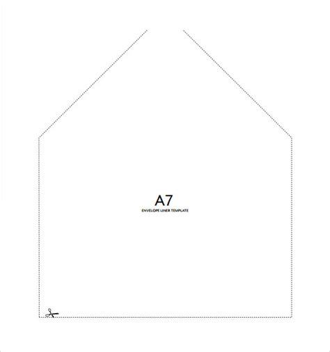 envelope liner template 9 sle a7 envelopes sle templates