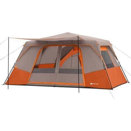 3 room cabin tent ozark trail 11 person 3 room instant cabin tent orange