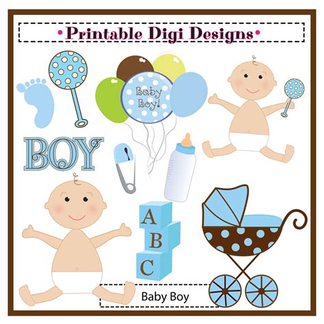 baby boy shower clip art   clip art
