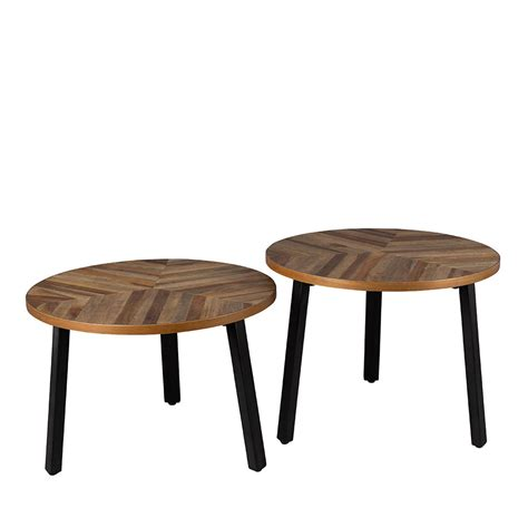 lot de 2 tables basse bois recycl 233 mundu