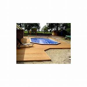 gardipool oblong 460 x 810 x 146 margelle ipe piscine With amenagement de jardin avec piscine 8 kit berlinoise pin cl4 piscine et bois