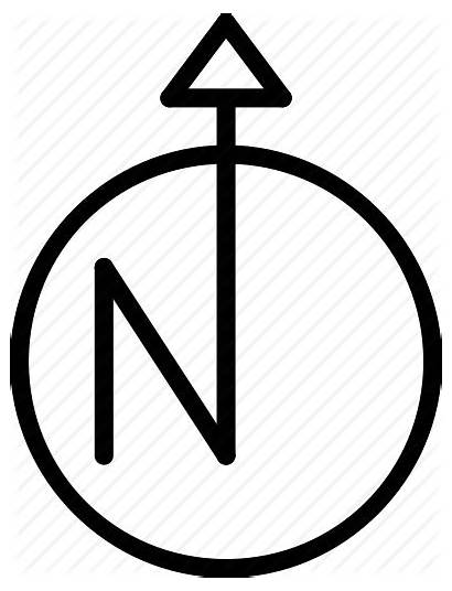 North Arrow Point Direction Icon Compass Drawing