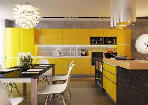 cuisine jaune et noir 25 cuisines modernes jaunes idées exemples inspirations