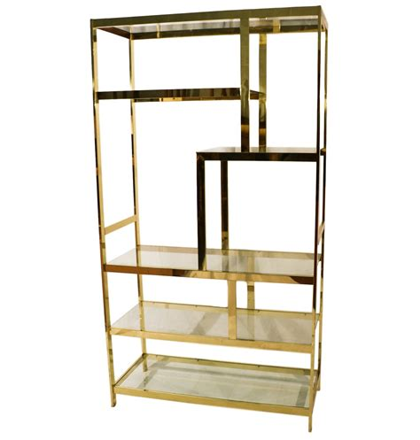 What Is An Etagere by Mid Century Milo Baughman Brass Glass Etagere