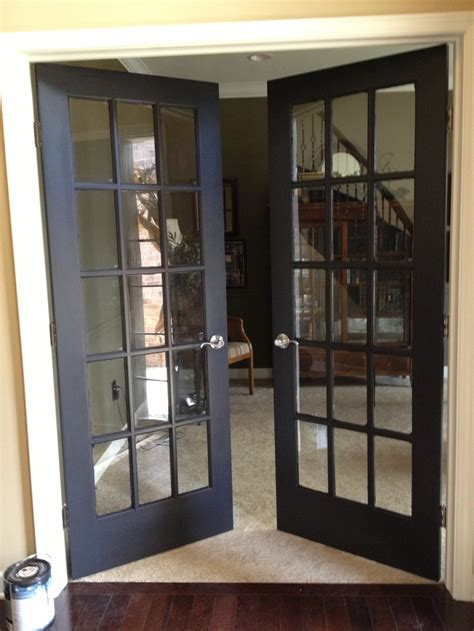 Black French Doors Would Make A Statement From Kitchen
