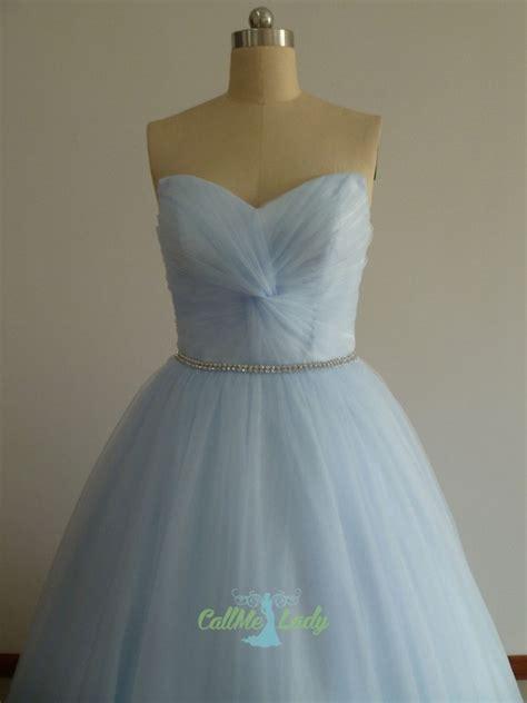 light sky blue beading long ball gown prom dress