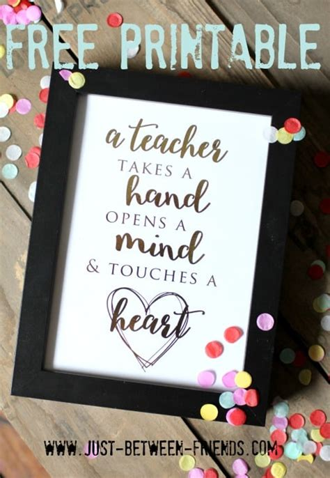 Thanks for being the creative and inspiring teacher you are. Free Printable Teacher Quote   Skip To My Lou