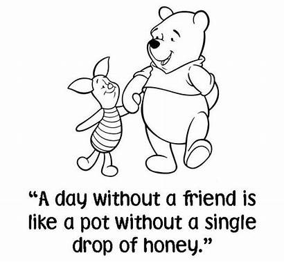 Pooh Quote Winnie Bags Quotes Friend Bear