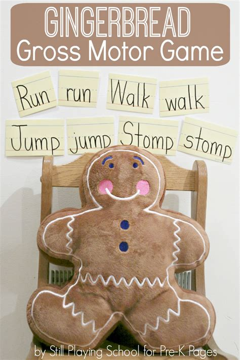 gingerbread gross motor activity pre k pages 199 | gingerbread gross motor game kids