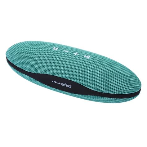 xc z6 portable oval shaped fabric design bluetooth stereo speaker with built in mic support
