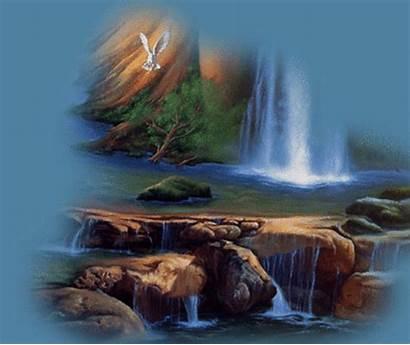 Nature Waterfall Animated Spiritual Spirit Scenery Gifs