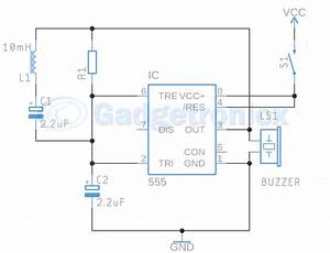 Metal Detector Circuit Using Ic 555 And Buzzer