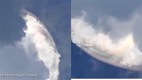 gambar awan langit terbelah  hist infobaru