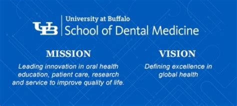 mission vision school dental medicine university buffalo