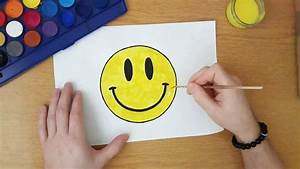 How to draw a Smiley face - YouTube