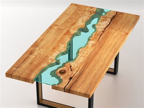 Live Edge Wood Round Dining Room Table With Glass River 4
