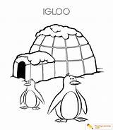 Igloo Coloring Eskimo Pages Drawing Clipartmag Sheet sketch template