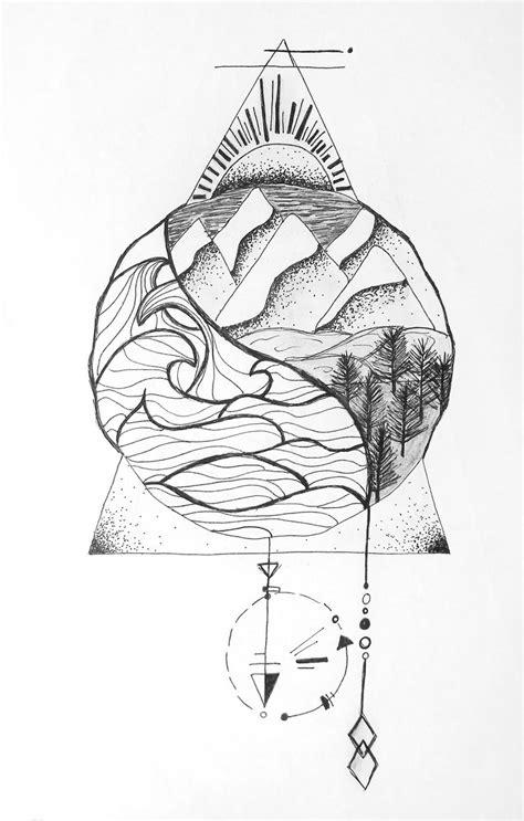 sea  land nautical natural ying  geometric