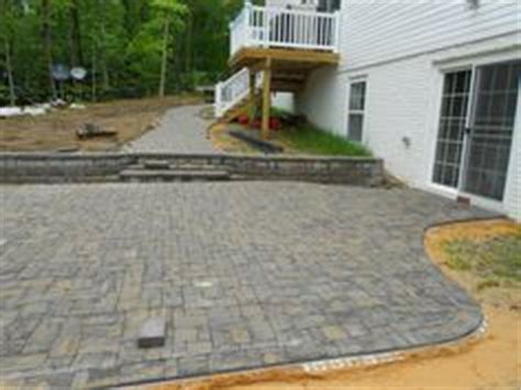paver patio on a slope search landscaping