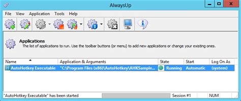 run  autohotkey executable   windows service