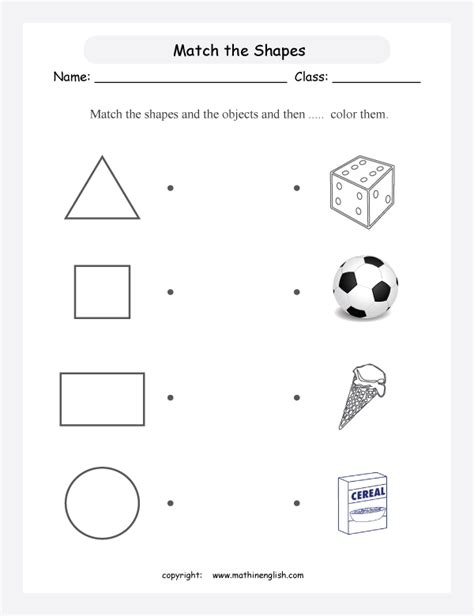 match the shapes and the objects and then color them