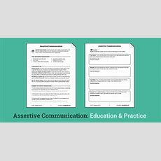 Assertive Communication (worksheet)  Therapist Aid