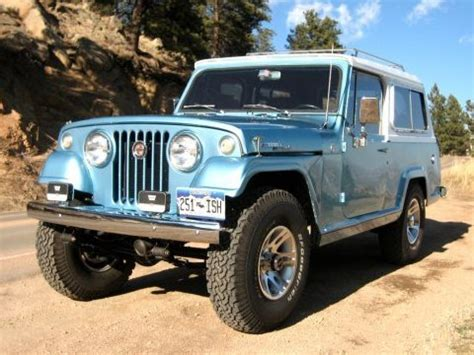 turquoise jeep cj impressive build 1967 jeepster commando bring a trailer