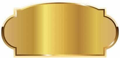 Label Golden Template Clipart Labels Templates Vektor