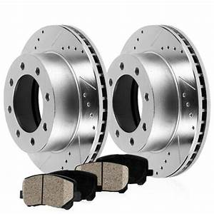Rear Drill Brake Rotors Ceramic Pads For Chevy Express