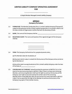 llc operating agreement template cyberuse With operation agreement llc template