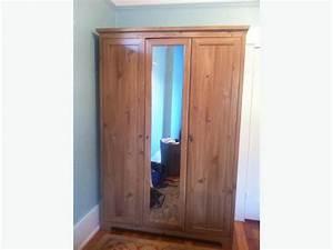 Ikea Aspelund ArmoireWardrobe With Mirror 3 Doors