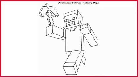 Dibujos para colorear de steve minecraft l Drawings
