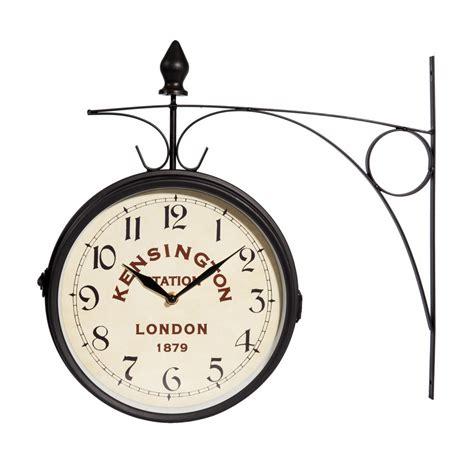 decoration chambre petit garcon horloge applique en métal d 42 cm kensington