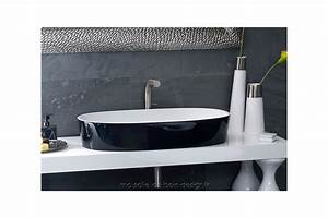 Grande Vasque À Poser : vasque poser ovale en quarrycast ios 80 par victoria albert ~ Melissatoandfro.com Idées de Décoration