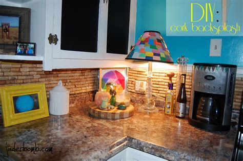 how to make a backsplash in your kitchen how to make a cork backsplash for your kitchen tutorial jaderbomb