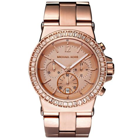 michael kors chronograph rose pvd plated watch mk5412