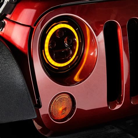 Led Headlights by Lumen 174 Jeep Wrangler 2016 7 Quot Black Projector Led
