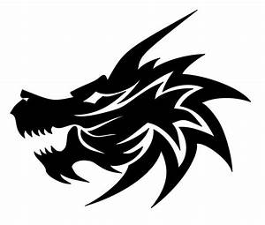 Fire breathing dragon head clipart black and white collection