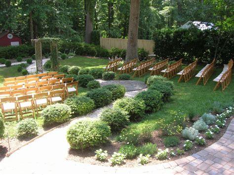 Backyard Garden Wedding by Our 4000 Backyard Wedding House