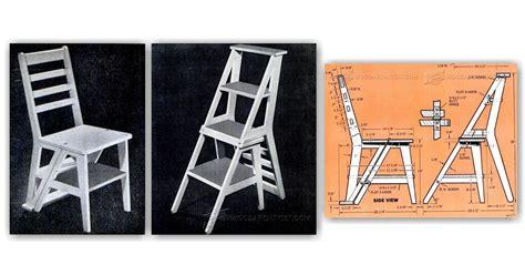 ladder chair plans woodarchivist
